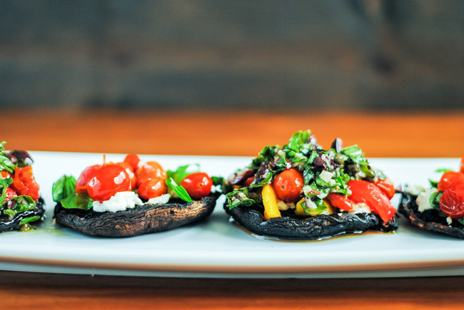 grilled portobello pizza