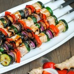 Grilled Ginger SwordFish Kabobs